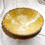 Tamegroute - Ochre Bowl 31cm-Tamegroute-A Little Morocco