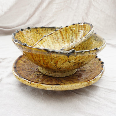 Tamegroute - Ochre Bowl n' Plate Sets-Tamegroute-A Little Morocco