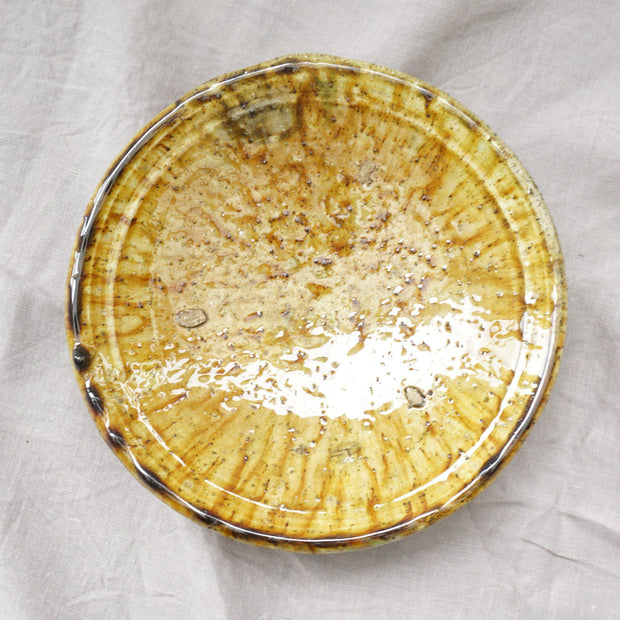 Tamegroute - Ochre Plate 21cm-Tamegroute-A Little Morocco