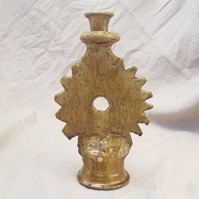 A Little Morocco, Tamegroute Ochre Candle Holder Front