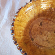 a little morocco Tamegroute rimmed bowl large ochre detail