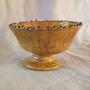 a little morocco Tamegroute rimmed bowl large ochre front