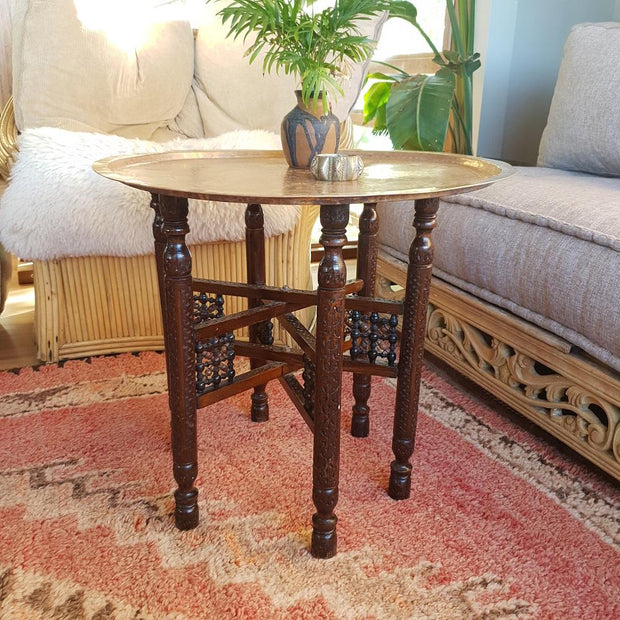 a little morocco tray table mashrabiya side