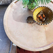 a little morocco tray table mashrabiya front