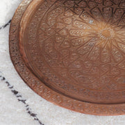 "Tray Table - ""Radiant Star"" Vintage Copper 65x48cm-Tray Table-A Little Morocco"