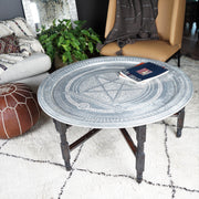 "Tray Table - ""Starlite"" Vintage Silver 105cm-Tray Table-A Little Morocco"