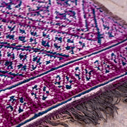 a little morocco vintage moroccan rug purple rain detailed