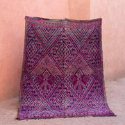 a little morocco vintage moroccan rug purple rain front