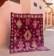 a little morocco - vintage moroccan rug - royal court angled