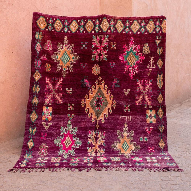 a little morocco - vintage moroccan rug - royal court front