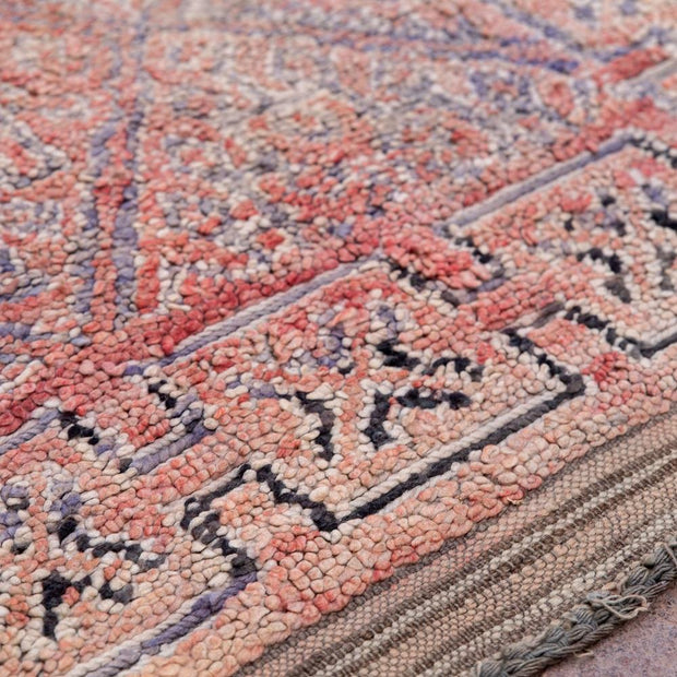 a little morocco vintage moroccan rug loussia detailed