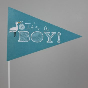It's A Boy Flag Blue