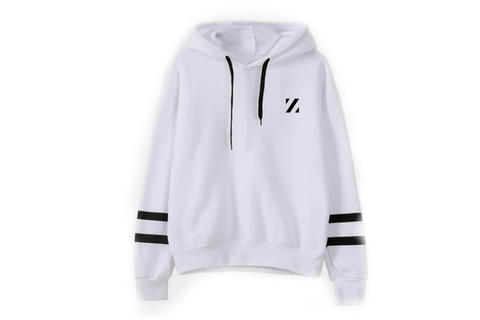Striped Hoodie White