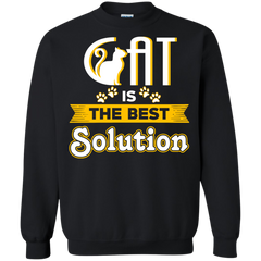 Pet Cat T-shirts Cat Is The Best Solutions Shirts Hoodies Sweatshirts