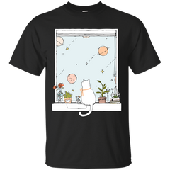 Cat Sitting On Windows Cool Cat T shirts Hoodies Gifts For Cat Lovers - TeeDoggie.Com
