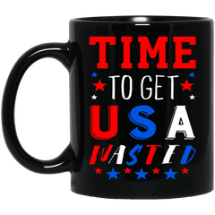 America Mug TIME TO GET USA WASTED Coffee Mug Tea Mug
