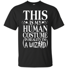 Harry Potter T-shirts This Is My Human Costume In Reality I'm A Wizard Shirts Hoodies Sweatshirts