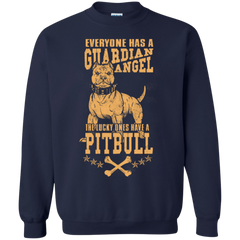 Dogs Pitbull Shirts Angel Guardian Lucky ones have Pitbull T-shirts Hoodies Sweatshirts