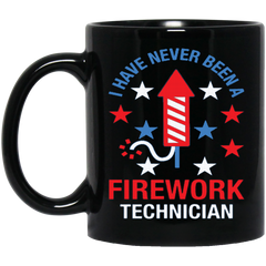 America Mug FIREWORK TECHNICIAN RED WHITE AND BLUE Coffee Mug Tea Mug