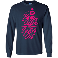 Mom Latch on Shirts Keep calm and Latch on T-shirts Hoodies Sweatshirts