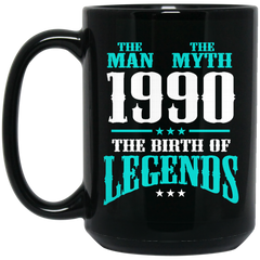 1990 Mug The Man The Myth The Birth of Legends Coffee Mug Tea Mug