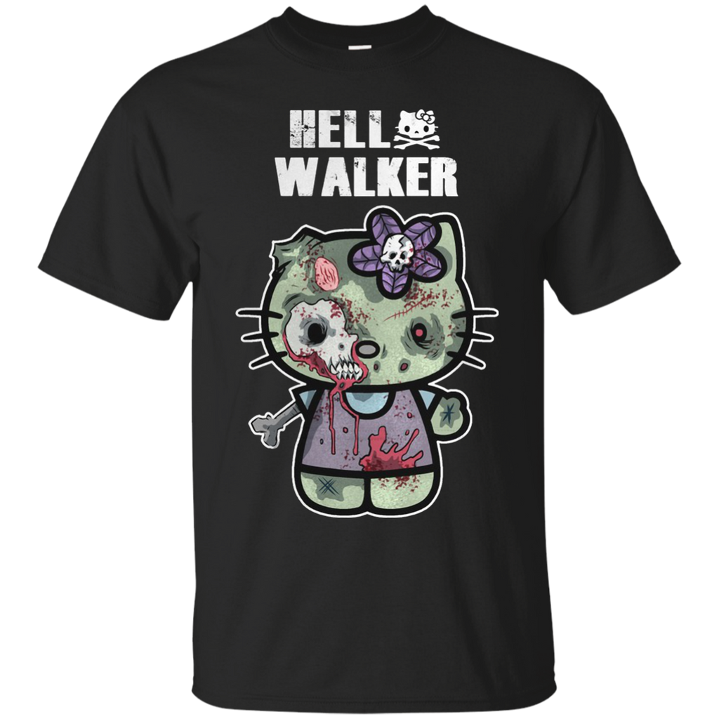 Walking Dead Hello Walker Kitty Cat T shirts Hoodies Sweatshirts - TeeDoggie.Com