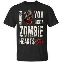 The Walking Dead Shirts I Love You Like A Zombie Heart T shirts Hoodies Sweatshirts - TeeDoggie.Com