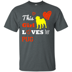 Dog Girl Pug Shirts This Girl Loves Pug T-shirts Hoodies Sweatshirts
