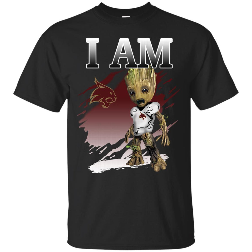 Texas State Bobcats Groot I Am T shirts Hoodies Sweatshirts