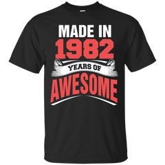 1982 Shirts Made in 1982 Year of Awesome T-shirts Hoodies Sweatshirts - TeeDoggie.Com