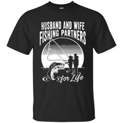 Family T-shirts Husband And Wife Fishing Partners For Life Shirts Hoodies Sweatshirts