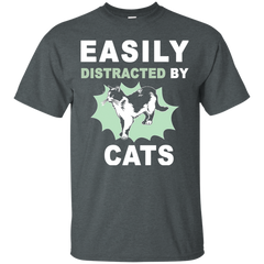 Cat Shirts Easily Distracted By Cat T shirts Hoodies Sweatshirts - TeeDoggie.Com