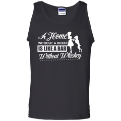 Dogs Boxers Wine Whiskey Shirts A home without Boxer like a Bar without Whiskey T-shirts Hoodies Sweatshirts