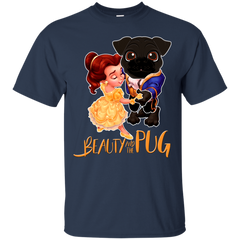 Beauty And The Beast T-shirt Beauty And The Pug Shirts Hoodies Sweatshirts