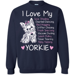 129 Yorkshire Terrier Shirts I love My Yorkie T-shirts Hoodies Sweatshirts - TeeDoggie.Com
