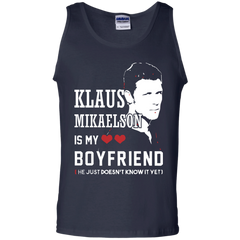 Vampire Diaries T-shirts Klaus Mikaelson Is My Boyfriend Shirts Hoodies Sweatshirts - TeeDoggie.Com