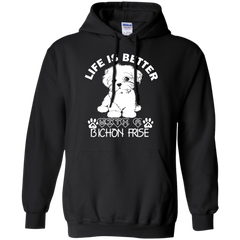 Dog Bichon Frise T-shirts Life Is Better With A Bichon Frise Shirts Hoodies Sweatshirts