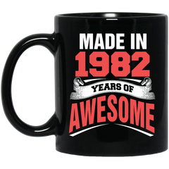 1982 Mug Made In 1982 Year of Awesome Coffee Mug Tea Mug