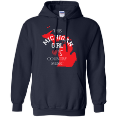 Country music Michigan Girl Shirts This girl loves Country Music