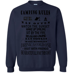 Camping Shirts Drink a Cold One Visit With Fiends be Gratefull T-shirts Hoodies Sweatshirts