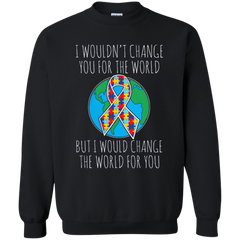 Autism Awareness T-shirts I Would Change The World For You Shirts Hoodies Sweatshirts