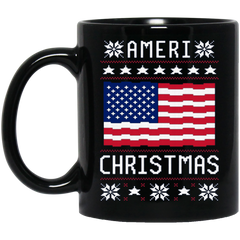 America Mug AMERI' CHRISTMAS UGLY SWEATER Coffee Mug Tea Mug