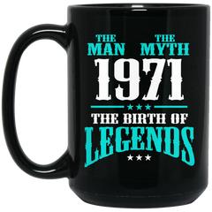 1971 Mug The Man The Myth The Birth Of Legends Coffee Mug Tea Mug