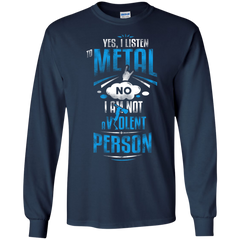 Rock metal Shirts I'm not a Violent person T-shirts Hoodies Sweatshirts