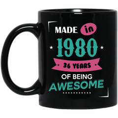 1980 Mug Made In 1980 Of Being Awesome Coffee Mug Tea Mug