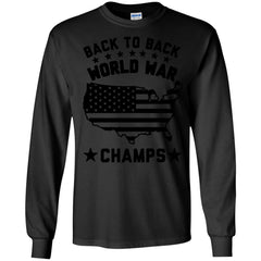 America Shirts BACK TO BACK WORLD WAR CHAMPS T-shirts Hoodies Sweatshirts