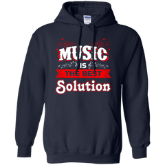 Music T-shirts Music Is The Best Solution Shirts Hoodies Sweatshirts