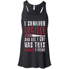 Walking Dead T-shirts I Survived Lucille All I Got Was Bloody T-shirt Hoodies Sweatshirts - TeeDoggie.Com