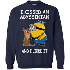 Abyssinian Cat Minion T shirts I Kissed An Abyssinian And I Liked It Hoodies Sweatshirts
