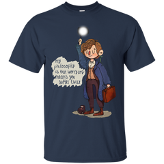 Fantastic Beasts Newt Scamander T-shirts My Philosophy Is That Worrying Means You Suffer Twice Shirts Hoodies Sweatshirts